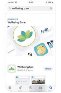 WellbeingZone App