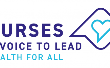 Nurses a voice to lead (ICN logo)
